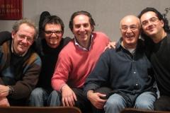 Franco Testa con Sandro Gibellini, Mauro Beggio, Jacopo Jacopetti e David Boato
