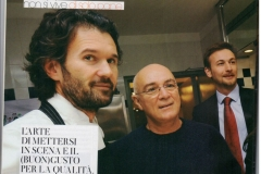 l' altra Passione di Franco Testa con Chef Carlo Cracco e Marco Ravasi (Brand Director Dom Pérignon Italia)
