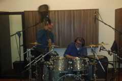 Al lavoro  in studio con Elio Rivagli